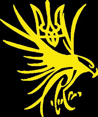 Принт Женская футболка поло Сокіл та герб України - FatLine