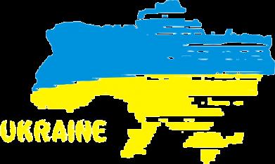Принт Женская майка Карта України з написом Ukraine - FatLine