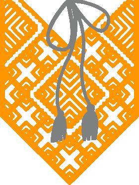 Принт Коврик для мыши Вишиванка з зав'язкою - FatLine