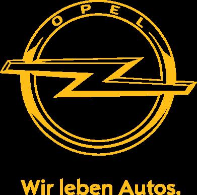 Принт Женская майка Opel Wir leben Autos - FatLine