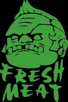 Принт Фартук Fresh Meat Pudge - FatLine
