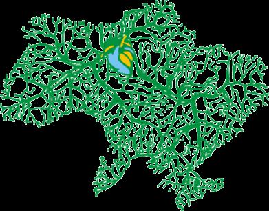 Принт Подушка Карта України з серцем - FatLine