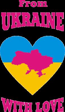 Принт Женская майка З України з любовью - FatLine