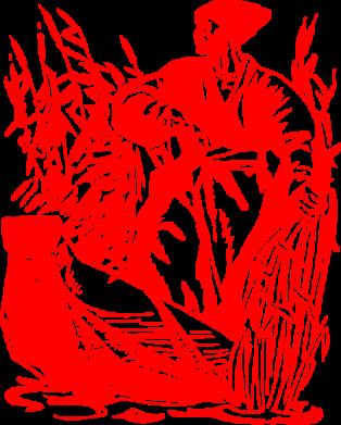 Принт Коврик для мыши Козак у камишу - FatLine