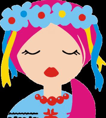 Принт Детская футболка Красива україночка - FatLine