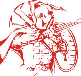 Принт Женская футболка Козак з щитом - FatLine