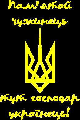 Принт Футболка Поло Пам'ятай чужинець - тут господар Українець! - FatLine