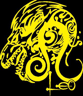 Принт Leo (Лев) - FatLine
