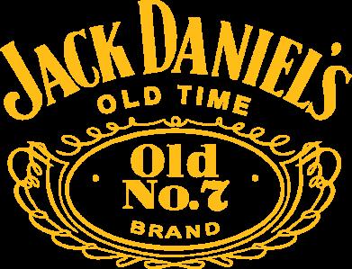 Принт Женская футболка с V-образным вырезом Jack Daniel's Old Time - FatLine