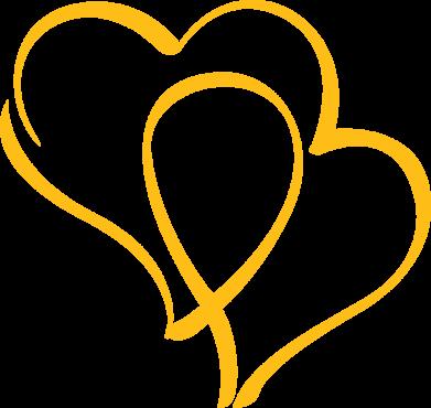 Принт Женская толстовка Влюбленные сердца - FatLine
