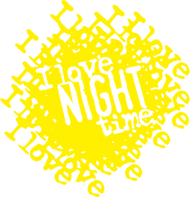 Принт Футболка Поло I love night time - FatLine