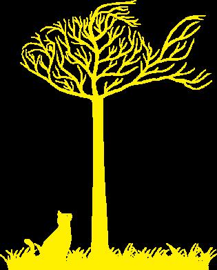 Принт Женская толстовка Кот прыгает на дерево - FatLine