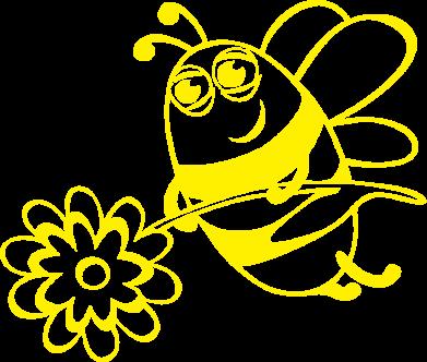 Принт Толстовка Добрая пчелка - FatLine