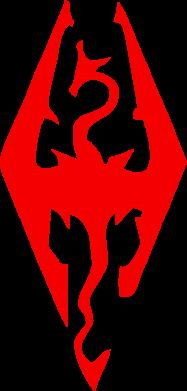Принт Слюнявчик  Skyrim - FatLine
