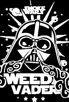 Принт Мужская толстовка на молнии Weed Vader - FatLine