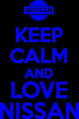 Принт Футболка с длинным рукавом Keep calm and love Nissan - FatLine