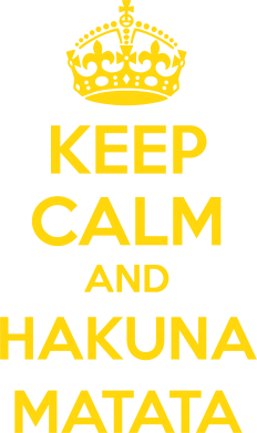 Принт Футболка KEEP CALM and HAKUNA MATATA - FatLine