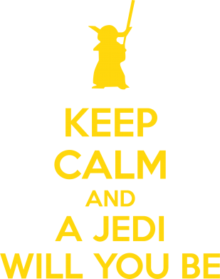 Принт Женская майка KEEP CALM and Jedi will you be - FatLine