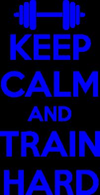 Принт Мужская футболка  с V-образным вырезом KEEP CALM and TRAIN HARD - FatLine