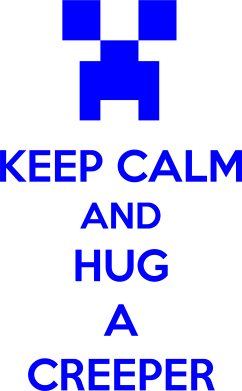 Принт Подушка KEEP CALM and HUG A CREEPER - FatLine