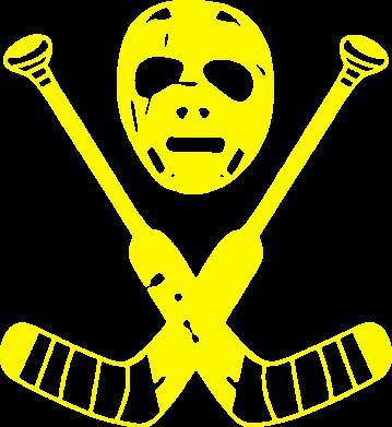 Принт Футболка Поло Хоккейная маска - FatLine
