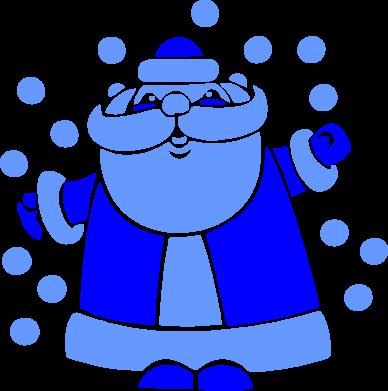Принт Кружка 320ml Прикольный дед мороз - FatLine