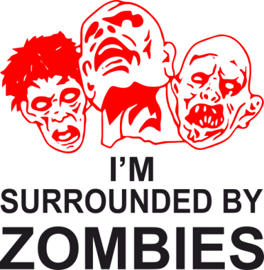 Принт Сумка I'm surrounded by zombies - FatLine