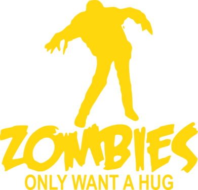 Принт Футболка Zombies only want a hug - FatLine