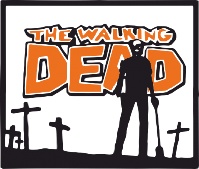 Принт Футболка Поло Walking dead logo - FatLine