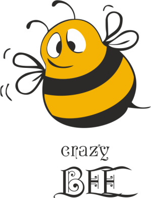 Принт Футболка Поло Crazy Bee - FatLine