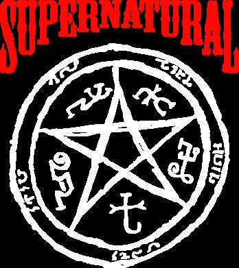 Принт Женская футболка поло Supernatural круг - FatLine