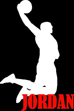Принт Женская футболка с V-образным вырезом Майкл Джордан - FatLine