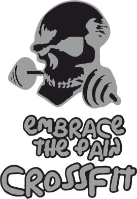 Принт Подушка Embrace the pain. Crossfit - FatLine