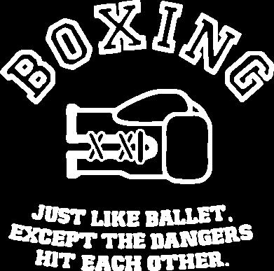 Принт Тельняшка с длинным рукавом Boxing just like ballet - FatLine