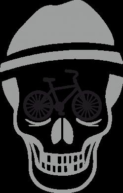 Принт Сумка Череп велосипедиста - FatLine