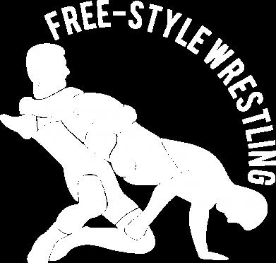 Принт Мужская толстовка на молнии Free-style wrestling - FatLine