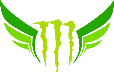 Принт Футболка Поло Monster Energy Крылья - FatLine