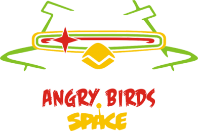 Принт Футболка Поло Angry Birds Space Logo - FatLine
