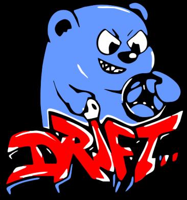 Принт Мужская толстовка Drift Bear, Фото № 1 - FatLine