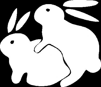 Принт Наклейка Кролики, Фото № 1 - FatLine