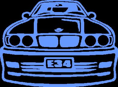 Принт Подушка BMW E34 - FatLine