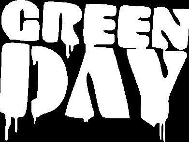 Принт Женская футболка с V-образным вырезом Green Day - FatLine