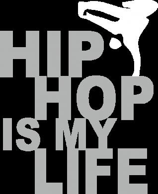 Принт Детская футболка Hip-hop is my life - FatLine