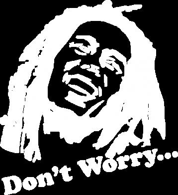 Принт Наклейка Don't Worry (Bob Marley) - FatLine