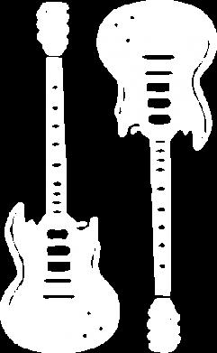 Принт Женская футболка с V-образным вырезом Две гитары - FatLine