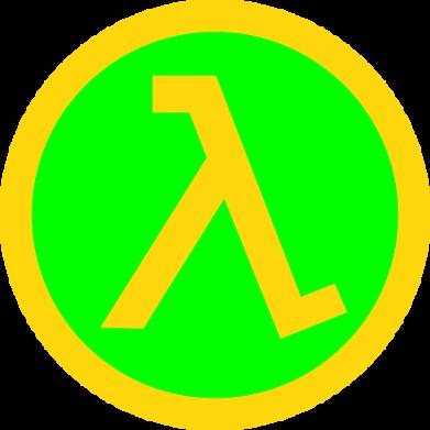 Принт Мужская майка Half Life Logo - FatLine