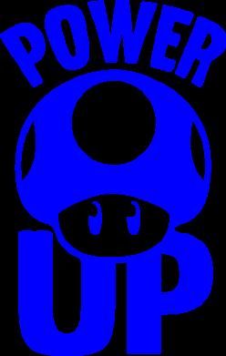 Принт Коврик для мыши Power Up гриб Марио - FatLine