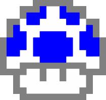 Принт Реглан Гриб Марио в пикселях - FatLine