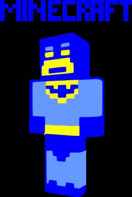 Принт Женская майка Minecraft Batman - FatLine
