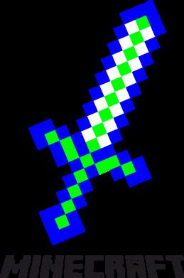 Принт Мужская толстовка Меч Minecraft, Фото № 1 - FatLine